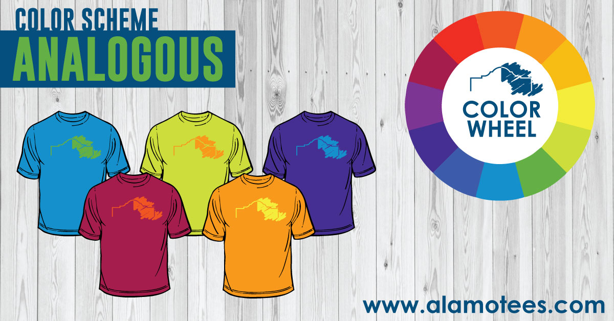 Alamo Tees Analogous Color Scheme