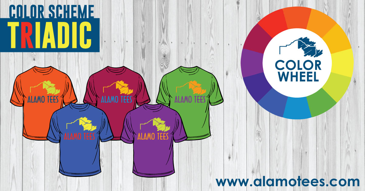 Alamo Tees Triadic Color Scheme