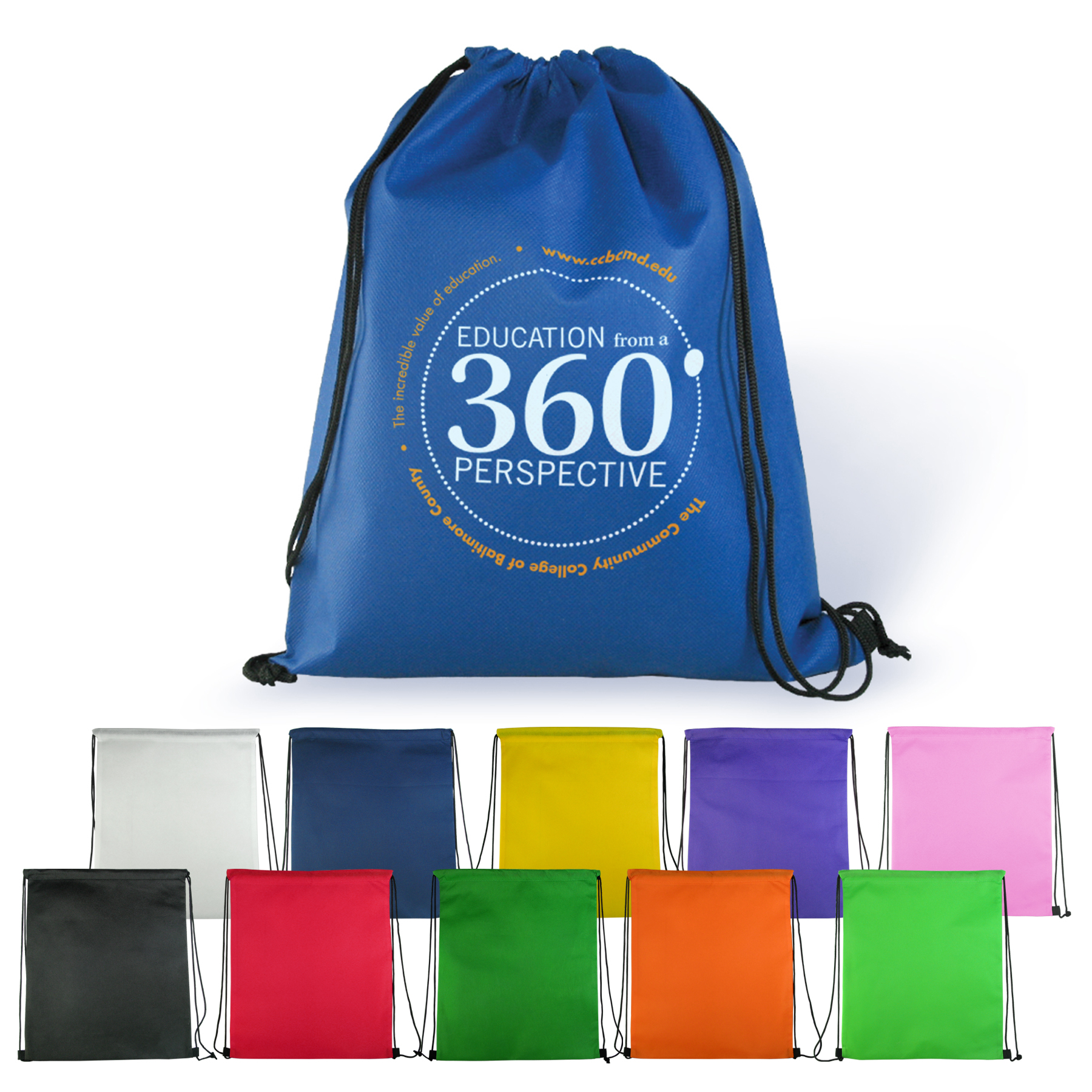 back to school promotional products drawstring backpack